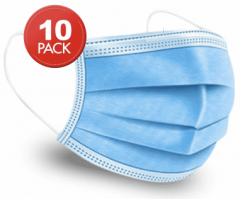 Quality 3-Ply Face Mask (Sealed 10 Packs)